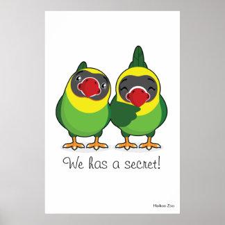 Giant 'We has a secret!' Lovebirds Poster
