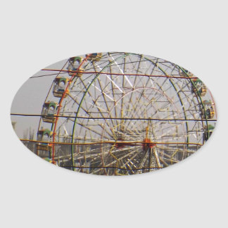 Giant Wheel Rides New Delhi India Craft Festivals Oval Sticker