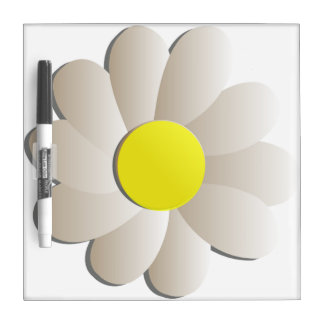 GIANT WHITE DAISY SPRING TIME FLOWER WRITING BOARD