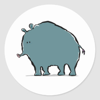 giant woolly tapir classic round sticker