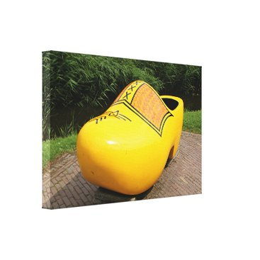 Beach Themed Giant yellow clog, Holland Canvas Print