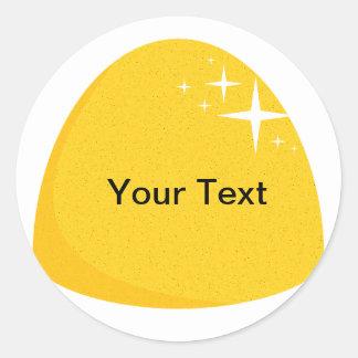 Giant Yellow Gumdrop  Candy Buffet Label Classic Round Sticker