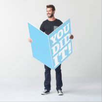 Giant You Did It! Oversized Card, Graduation Card