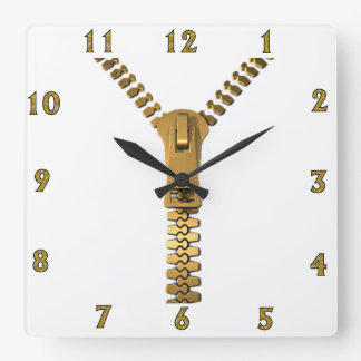 Giant Zipper Wall Clock