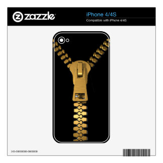 Giant Zipper Zazzle Skin Decals For The iPhone 4
