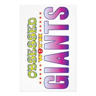 Giants 2 obsesionado papelería personalizada