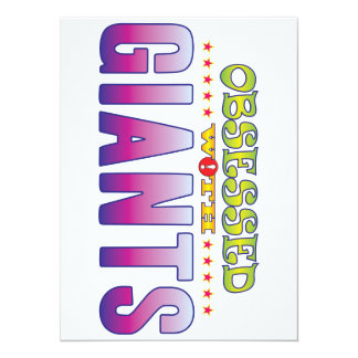 Giants 2 Obsessed 14 Cm X 19 Cm Invitation Card