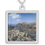 Giants Causeway, County Antrim, Northern Square Pendant Necklace