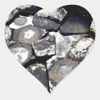 Giant's Causeway, Northern Ireland Heart Sticker
