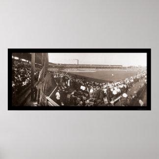Giants Cubs Baseball Photo 1908 Poster