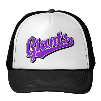 Giants in Purple Trucker Hat