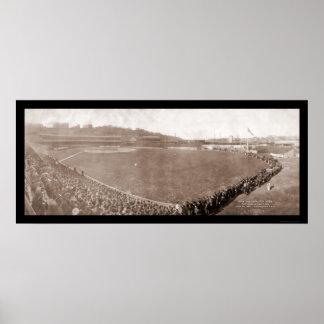 Giants Pirates Polo Grounds Baseball Photo 1905 Poster