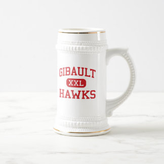Gibault - halcones - católico - Waterloo Illinois Jarra De Cerveza