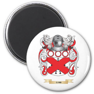 Gibb Coat of Arms (Family Crest) 2 Inch Round Magnet