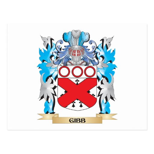 Gibb Coat of Arms - Family Crest Postcards