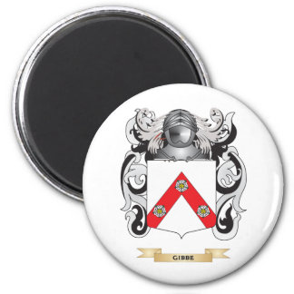 Gibbe Coat of Arms (Family Crest) 2 Inch Round Magnet