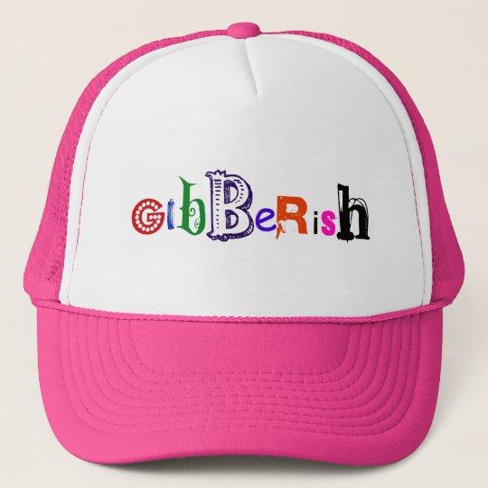 Gibberish Funky Text Design Trucker Hat