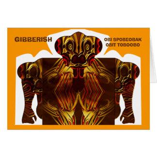 GIBBERISH - obi spobeobak obit toboobo Card