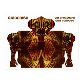 GIBBERISH - obi spobeobak obit toboobo Postcard