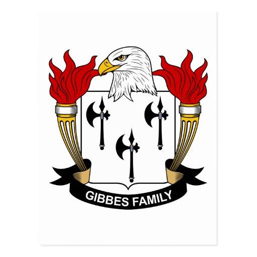 Gibbes Family Crest Postcard