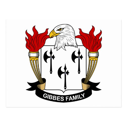 Gibbes Family Crest Post Card