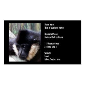 Gibbon Ape Pastel Business Cards