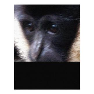 Gibbon Ape Pastel Personalized Invites