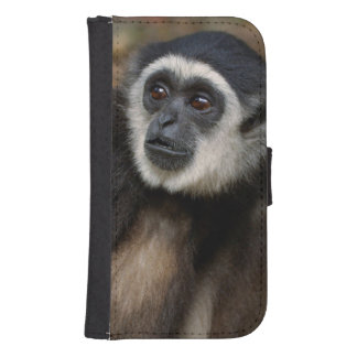 Gibbon Blanco-Dado (lar) del Hylobates, Monkeyland Fundas Tipo Billetera Para Galaxy S4
