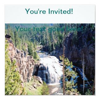 """Gibbon Falls 5.25"""" Square Invitation Card"""