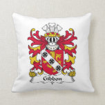 Gibbon Family Crest Pillow