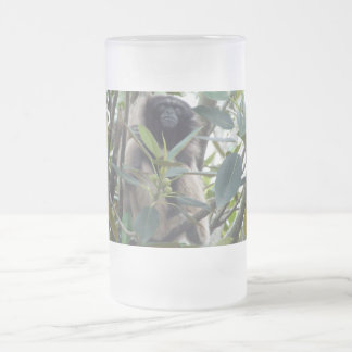 Gibbon Frosted Glass Beer Mug