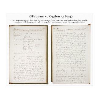 Gibbons v. Ogden, 22 U.S. 1 (1824) Stretched Canvas Print