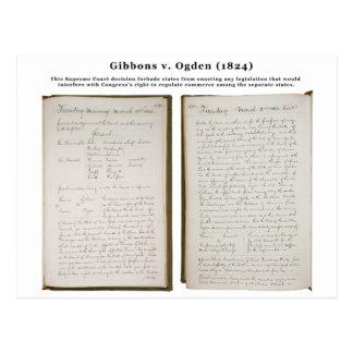 Gibbons v. Ogden, los 22 E.E.U.U. 1 (1824) Postales