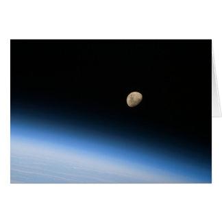Gibbous Moon from Orbit Card