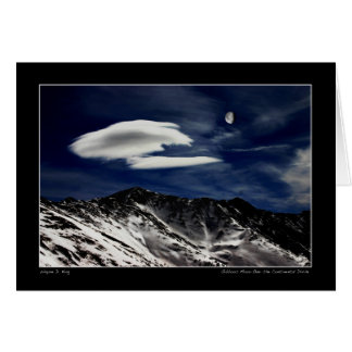 Gibbous Moon Over The Continental Divide Card