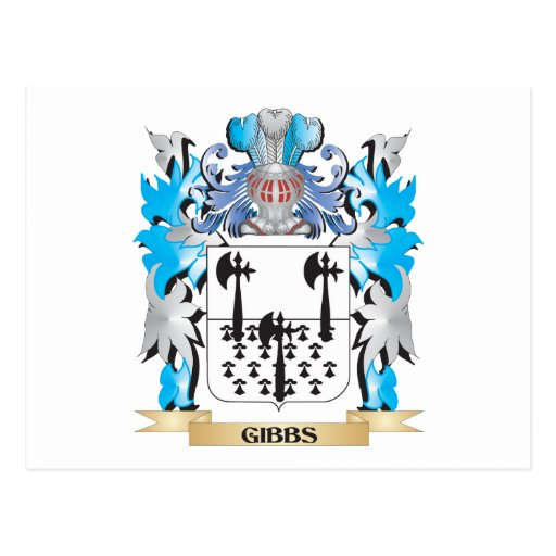 Gibbs Coat of Arms - Family Crest Postcards