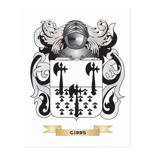 Gibbs Coat of Arms (Family Crest) Postcards