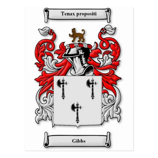 Gibbs Coat of Arms Post Cards