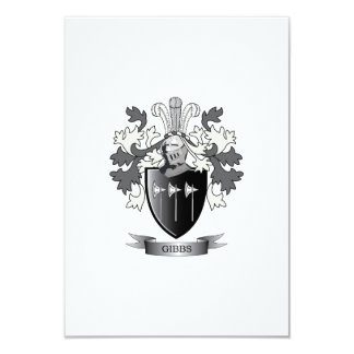 Gibbs Family Crest Coat of Arms Card