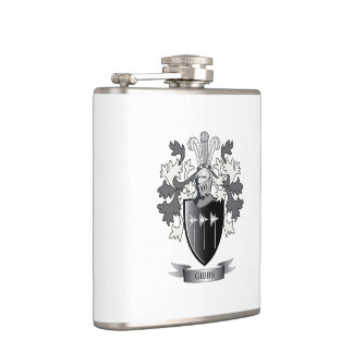 Gibbs Family Crest Coat of Arms Flask