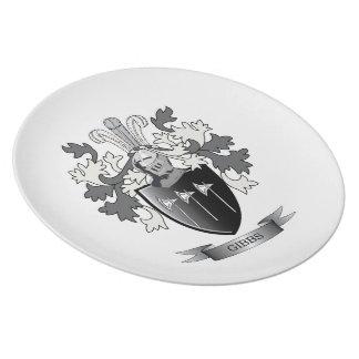 Gibbs Family Crest Coat of Arms Melamine Plate