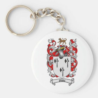 GIBBS FAMILY CREST -  GIBBS COAT OF ARMS BASIC ROUND BUTTON KEYCHAIN