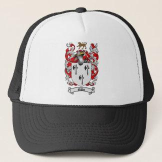 GIBBS FAMILY CREST -  GIBBS COAT OF ARMS TRUCKER HAT
