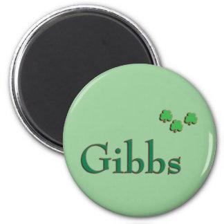 Gibbs Family Irish 2 Inch Round Magnet