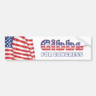 Gibbs for Congress Patriotic American Flag Car Bumper Sticker