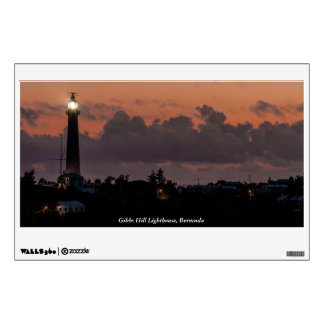 Gibbs Hill Lighthouse at Sunset Wall Decal