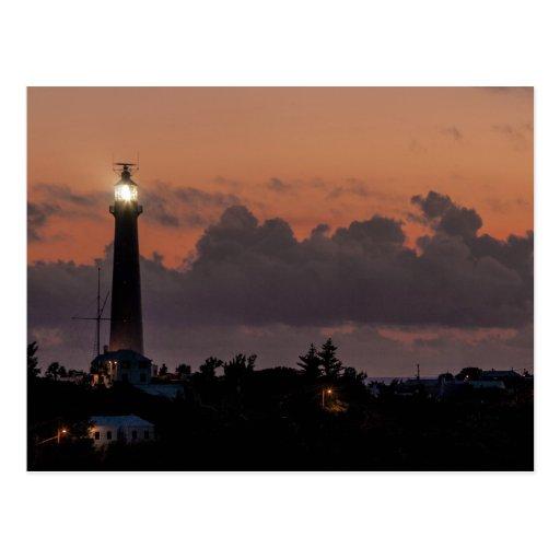 Gibbs Hill Lighthouse Sunset Postcard