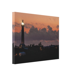 Gibbs Hill Lighthouse Sunset Wrapped Canvas