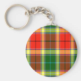 Gibbs Scottish Tartan Basic Round Button Keychain