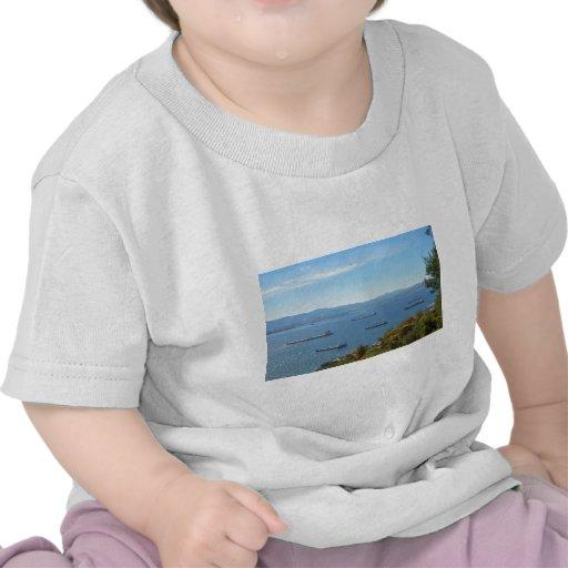 Gibraltar Anchorage desde arriba Camiseta